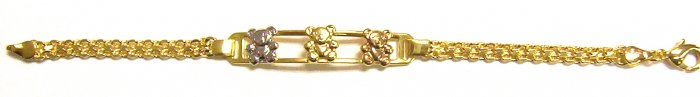 Gold Filled Women's Bracelet - Teddy Bear