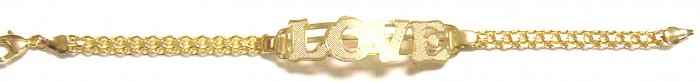 Gold Filled Women's Bracelet-love