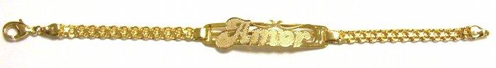 Gold Filled Women's Bracelet- Amor