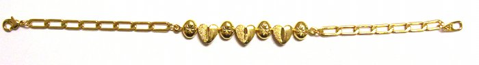 Gold Filled Women's Bracelet - Heart Link