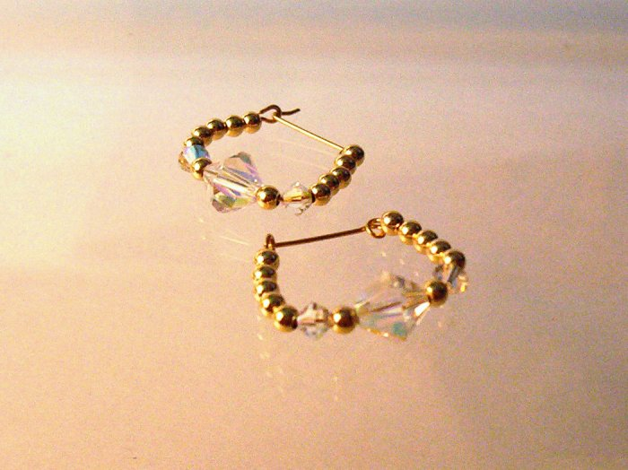 Medium Hoop Earrings- GF Beaded