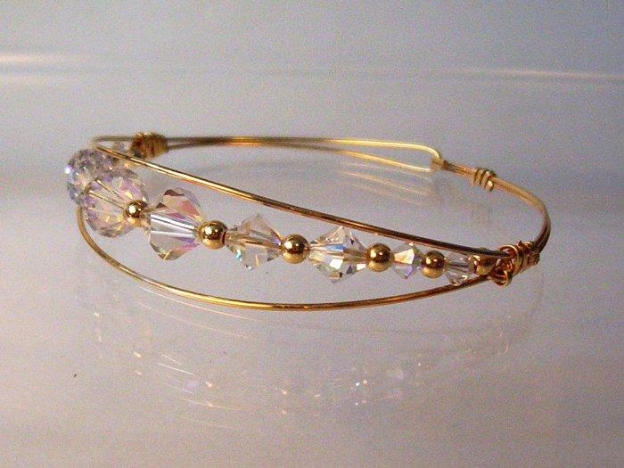 GF Wire Bracelet- Crystals