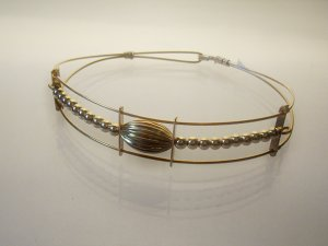 GF Wire Bracelet- Oval Charm
