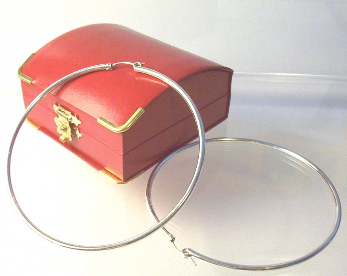 Sterling Silver Hoop Earrings- 9 cm Diameter (Extra Large)