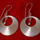 Round Sterling Silver Earrings
