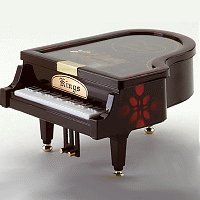 Musical Piano Jewelry Box