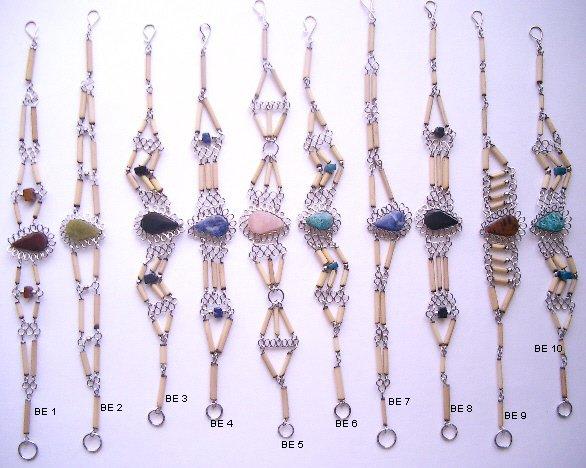 Incan Bamboo & Gemstone Bracelet