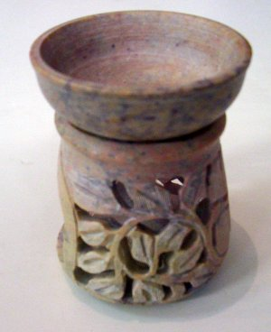Stone Oil Burner- Leaves Column