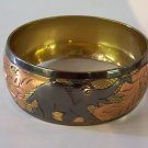 High End Brass & Copper Elephants Bangle
