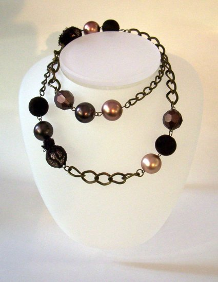 Faux Pearl High End Chain- FREE SHIPPING
