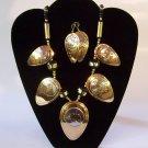 Brass Elephants Necklace Set