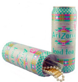 Safe Built into a Can of Arizona Ice Tea