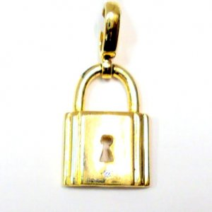 Gold Filled Pendant - Lock