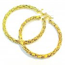 Braided Hoop Earrings- Gold Filled