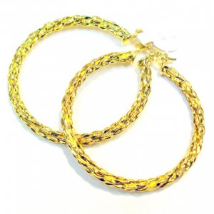Braided Hoop Earrings- Gold Filled