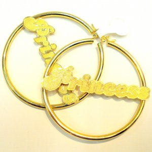 Princess Hoop Earrings- Gold Filled