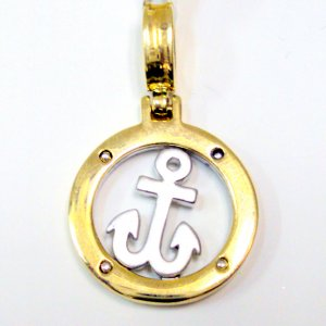 Navy Anchor - Gold Filled