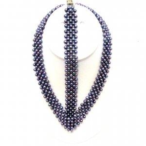 Freshwater Pearl Necklace & Bracelet Set