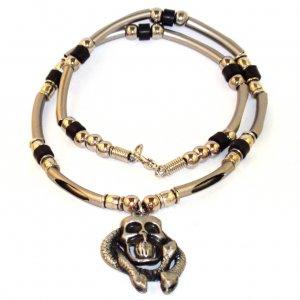 Men's Necklace - Skull Snake