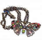 Fashion Necklace - Colorful Butterfly