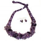 Fashion Necklace Set - Amethyst Gala