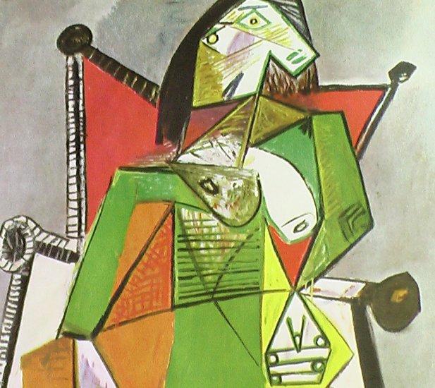 Femme Assise Dans Un Fauteuil 1941 Published By Verve - Framed Artwork