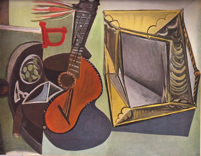 Nature Morte A La Guitare 1942 Lithograph By Pablo Picasso Published By Verve - Framed Artwork