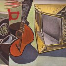 Nature Morte A La Guitare 1942 Lithograph By Pablo Picasso Published By Verve - Framed Artwork
