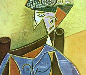 Femme Dans Un Fauteuil Lithograph 1941 By Pablo Picasso Published By Verve Magazine - Framed Artwork