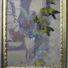 Light Mauve Still Life By Carmel Artist Victor Di Gesu, Oil Painting on Board - Framed Artwork