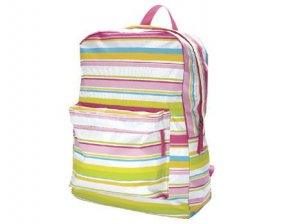 FREE SHIP Preppy Stripe Backpack Diaper Bag by Room It Up / RoomItUp FREE SHIP USA