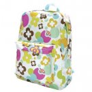 FREE SHIP Flower Polka Dot Backpack Diaper Bag by Room It Up / RoomItUp FREE SHIP USA