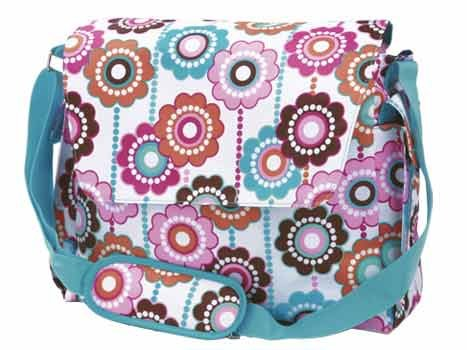 FREE SHIP Crazy Daisy Baby Blue Diaper Bag by Room It Up / RoomItUp FREE SHIP USA