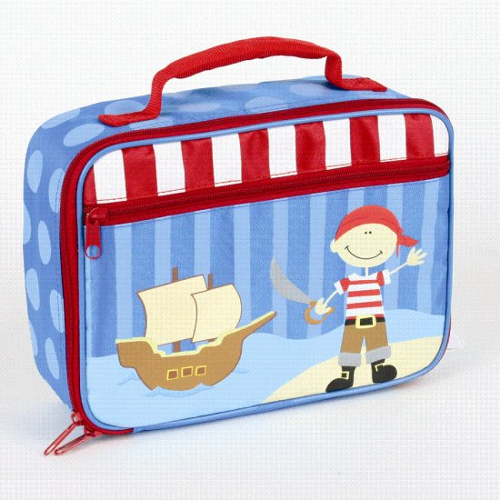 FREE SHIP Pirate Ship Lunch Bag Box Tote - Kids by Stephen Joseph FREE SHIPPING - USA