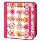 FREE SHIP Hot Pink Circle Polka Dot Notebook 3 Ring Binder by Room It Up / RoomItUp FREE SHIP USA