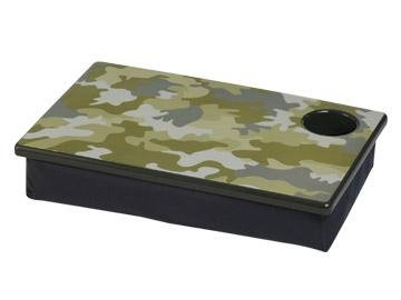 FREE SHIP Camo Green Lap Desk Tray Cup Holder by RoomItUp / Room It Up FREE SHIP - USA