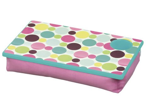 FREE SHIP Polka Dot Green Lap Desk Tray Cup Holder by RoomItUp / Room It Up FREE SHIP - USA