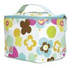 FREE SHIP Flower Polka Dot Makeup Train Case by RoomItUp / Room It Up FREE SHIP - USA
