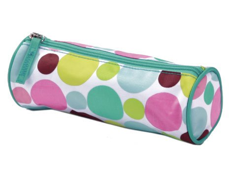 FREE SHIP Polka Dot Green Pencil Brush Case by RoomItUp / Room It Up FREE SHIP - USA