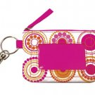 FREE SHIP Hot Pink Circle Polka Dot ID Case Key Ring RoomItUp / Room It Up FREE SHIP - USA