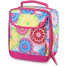 FREE SHIP Line Flower Lunch Bag Tote by RoomItUp / Room It Up FREE SHIP - USA