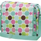 FREE SHIP Green Polka Dot Messenger Sling Bag Tote Diaper by RoomItUp / Room It Up FREE SHIP - USA