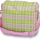 FREE SHIP Pink Green Plaid Messenger Sling Bag Tote Diaper by RoomItUp / Room It Up FREE SHIP - USA