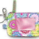 FREE SHIP Line Flower ID Case Key Ring by RoomItUp / Room It Up FREE SHIP - USA