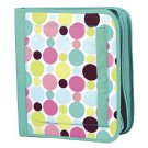 FREE SHIP Green Polka Dot Notebook 3 Ring Binder by Room It Up / RoomItUp FREE SHIP