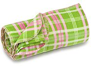 FREE SHIP Pink Green Plaid Fleece Blanket by RoomItUp / Room It Up FREE SHIP - USA