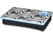 FREE SHIP Pipeline Blue Black Lap Desk Tray Cup Holder by RoomItUp / Room It Up-FREE SHIP-USA