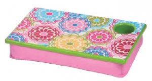 FREE SHIP Line Flower Lap Desk Tray Cup Holder by RoomItUp / Room It Up-FREE SHIP-USA