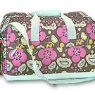 FREE SHIP Boho Brown Flower Paisley Duffle Bag Tote by RoomItUp / Room It Up FREE SHIP - USA