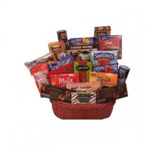 "European Chocolate Luxuries ""Mega Sweet"" Gift Basket"